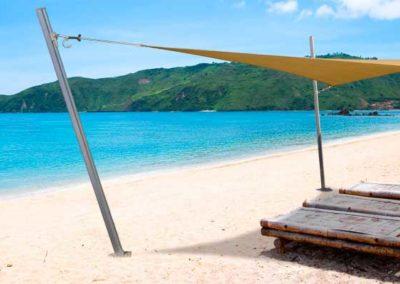 Kuta  sand  beach, Lombok, Indonesia